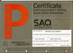 SAQ Speed Agility & Quickness