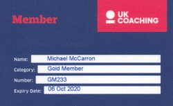 Sports Coach UK Membership Card