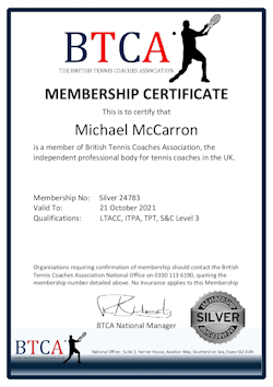 Tennis Coach UK Membership